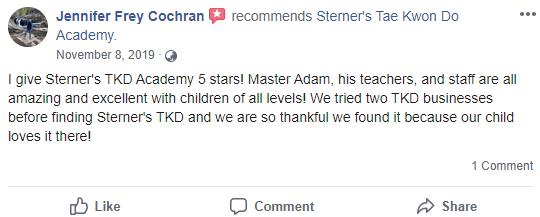 Prekids1, Sterner's Tae Kwon Do Academy