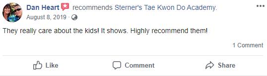 Prekids3, Sterner's Tae Kwon Do Academy
